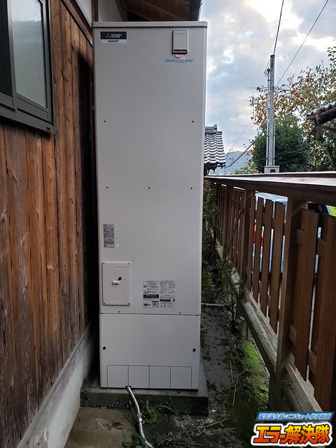 (施工後)三菱電気温水器(追いだき)から三菱エコキュートへの入れ替え施工事例